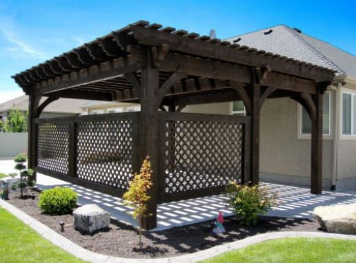 garden lattice pavillion