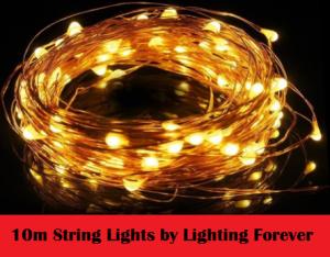 10m string lights by lighting forever