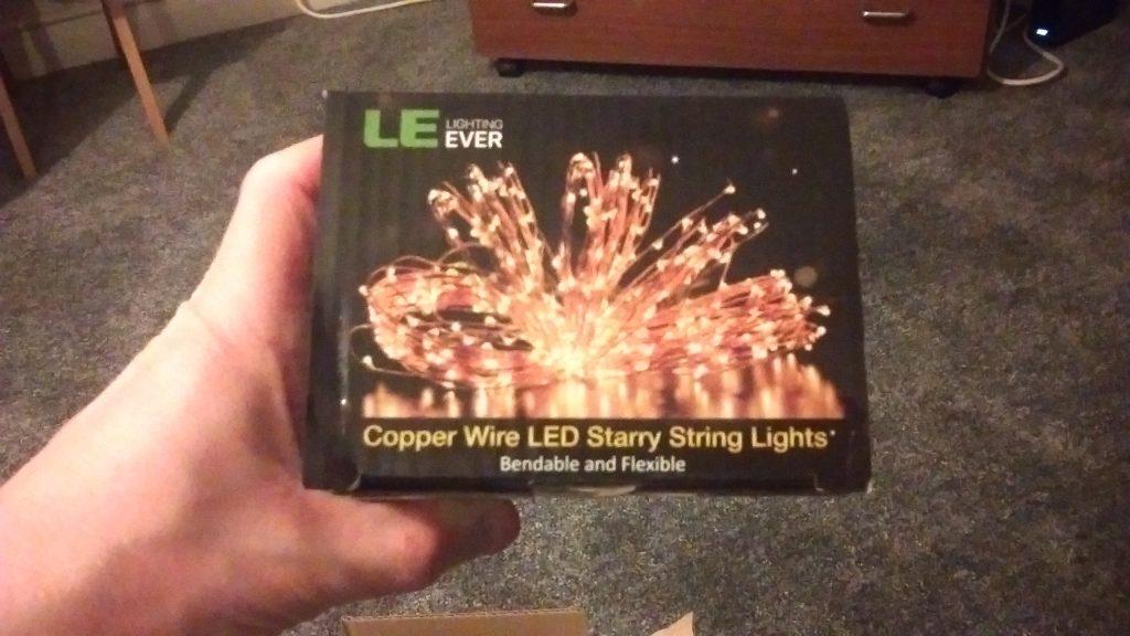 Lighting Ever Lights after unpacking