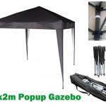 black gazebo
