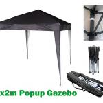 Black Mcchome pop up gazebo 2x2m