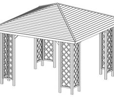 Checo Wooden Gazebo Kit 1