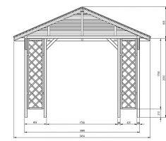 Checo Wooden Gazebo Kit 3