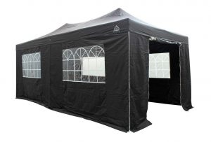 all seasons gazebo 6 x 3m black