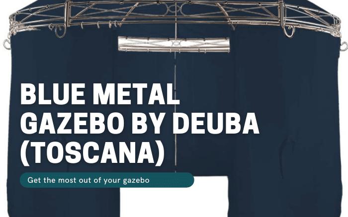 Blue Metal Gazebo by Deuba