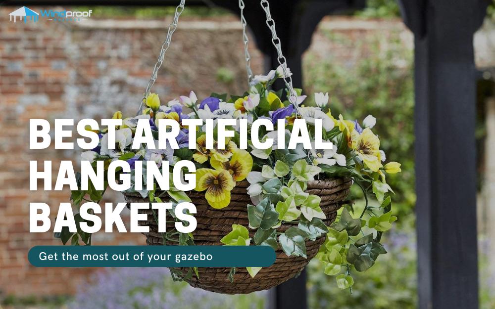 best artificial hanging baskets
